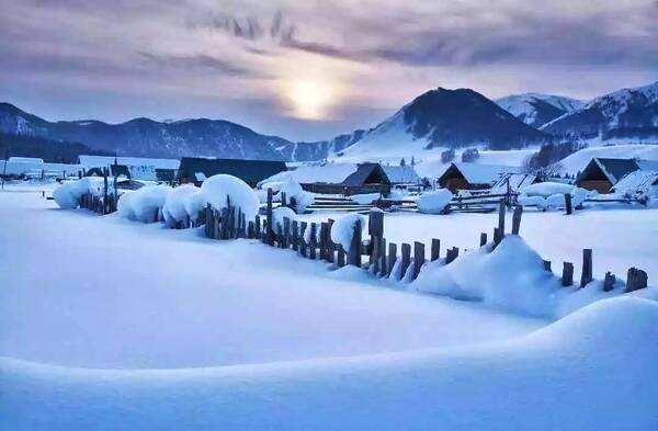 冬季禾木村仙境