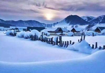 喀纳斯,冬天的童话世界
